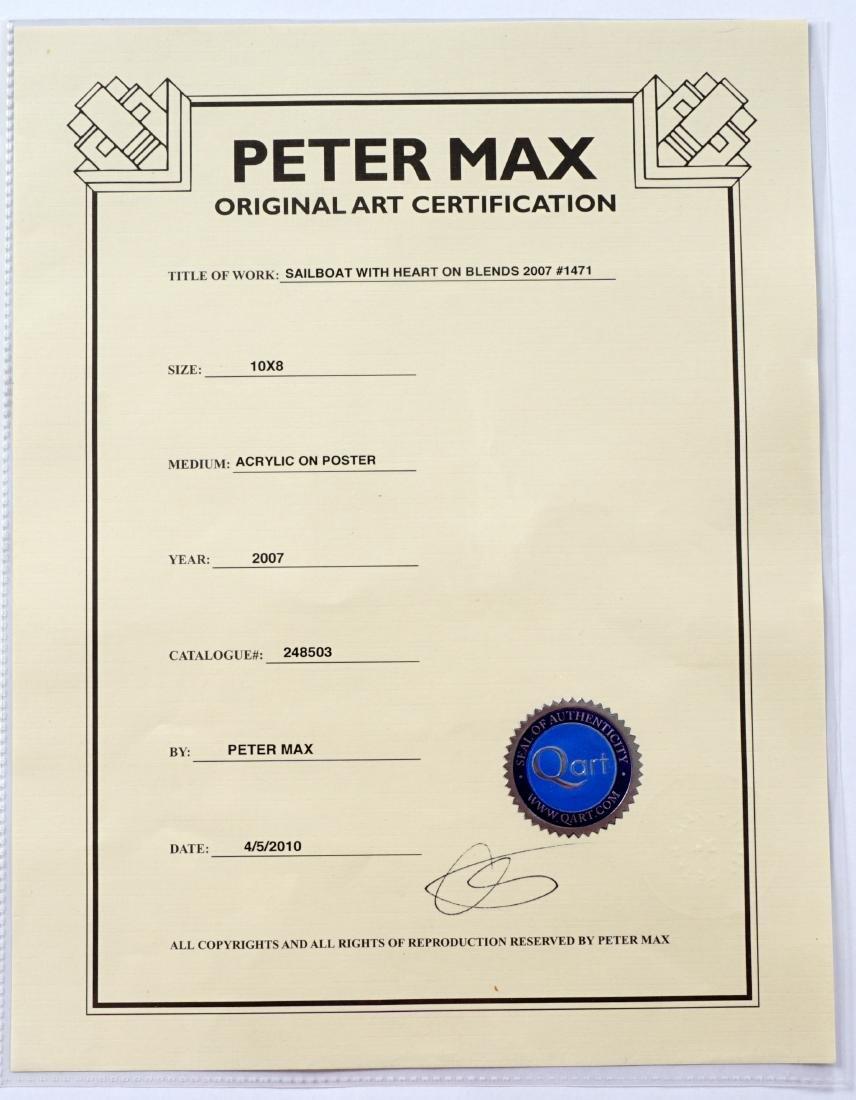 Peter Max Sailboat with Heart Mixed Media - 5
