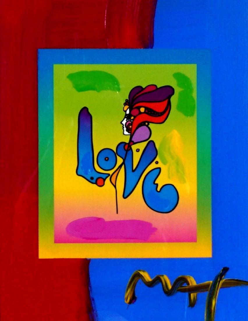 Peter Max Love Version II Mixed Media
