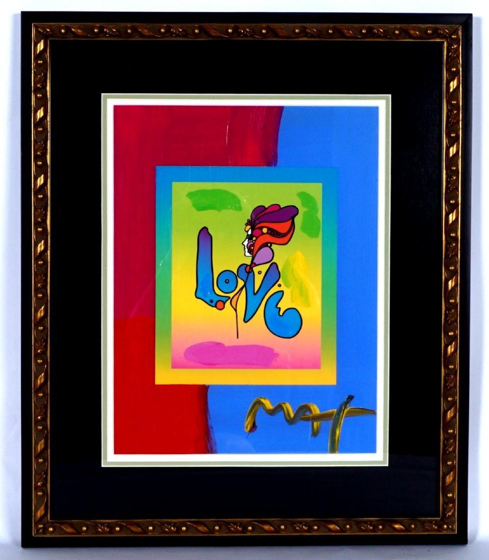 Peter Max Love Version II Mixed Media - 2