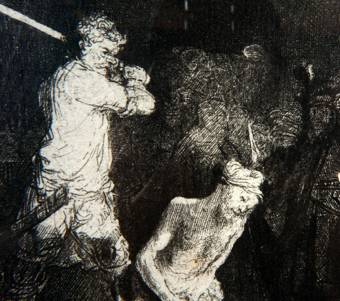 Rembrandt Beheading of John the Baptist Etching - 3