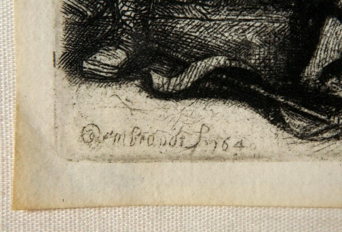Rembrandt Beheading of John the Baptist Etching - 4