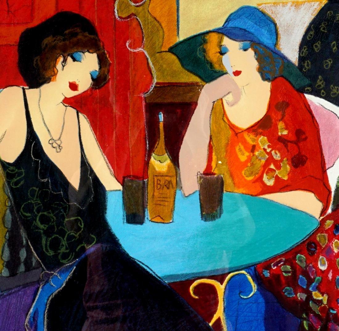 Itzchak Tarkay Lithograph of 2 Women at a Cafe - 3