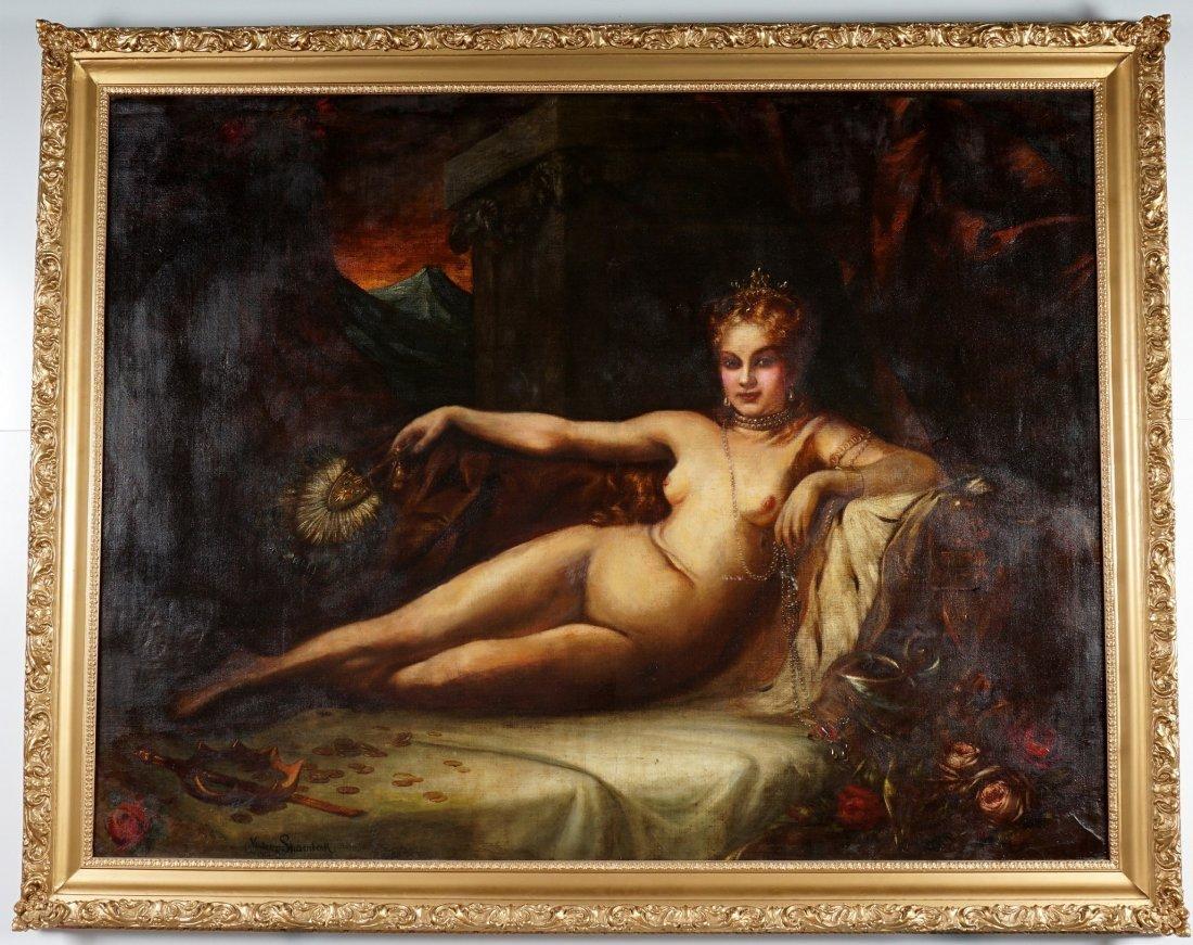 Large Vladimir Shamberk Reclining Nude Painting - 2