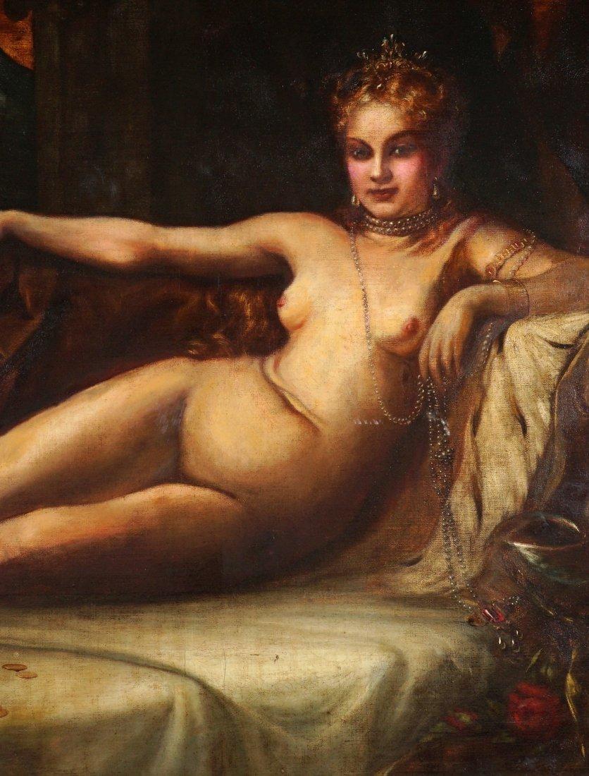 Large Vladimir Shamberk Reclining Nude Painting - 3