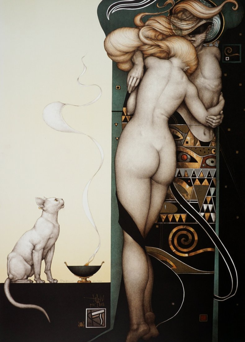 Michael Parkes Night & Day Lithograph