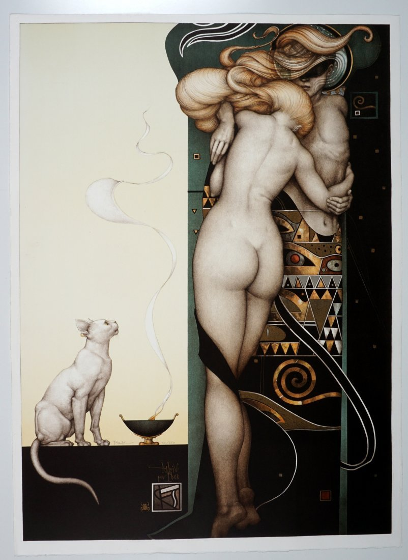 Michael Parkes Night & Day Lithograph - 2