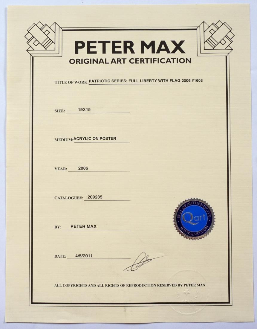 Peter Max Liberty and Flag Mixed Media - 5
