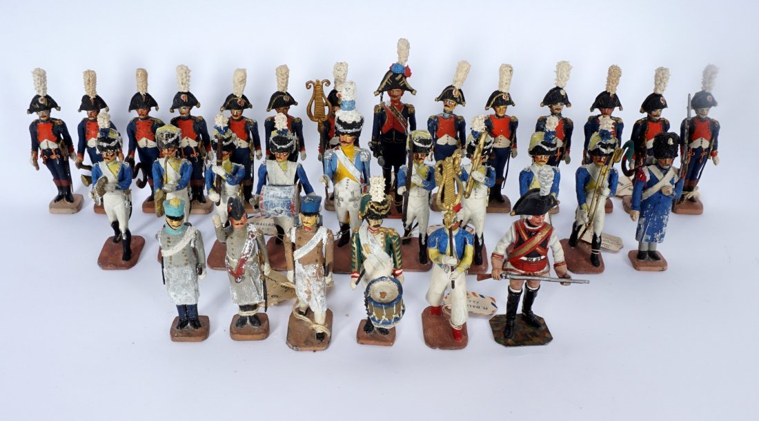 Collection of 30 French Ballada Toy Soldiers