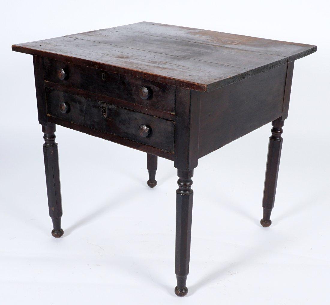 19th Century 2 Drawer Sea Captain's Desk