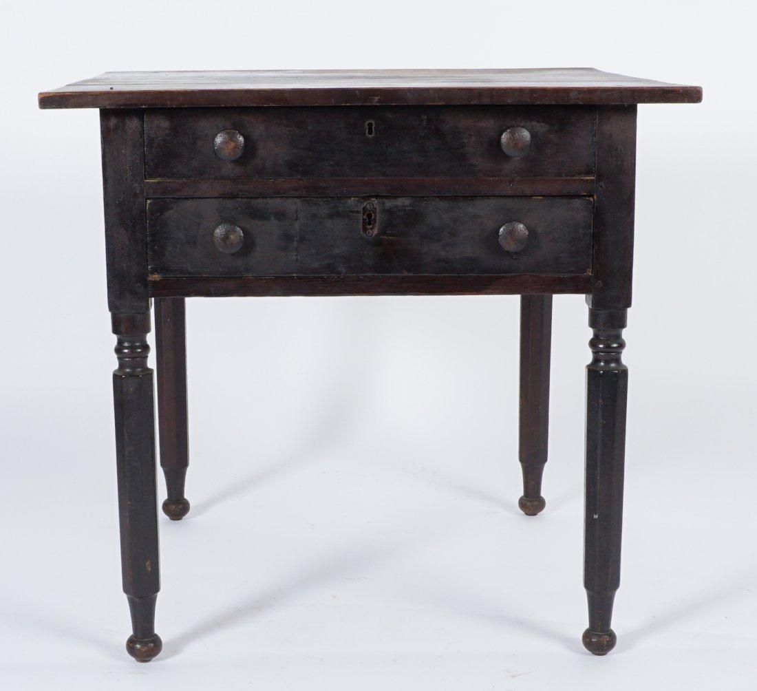 19th Century 2 Drawer Sea Captain's Desk - 3