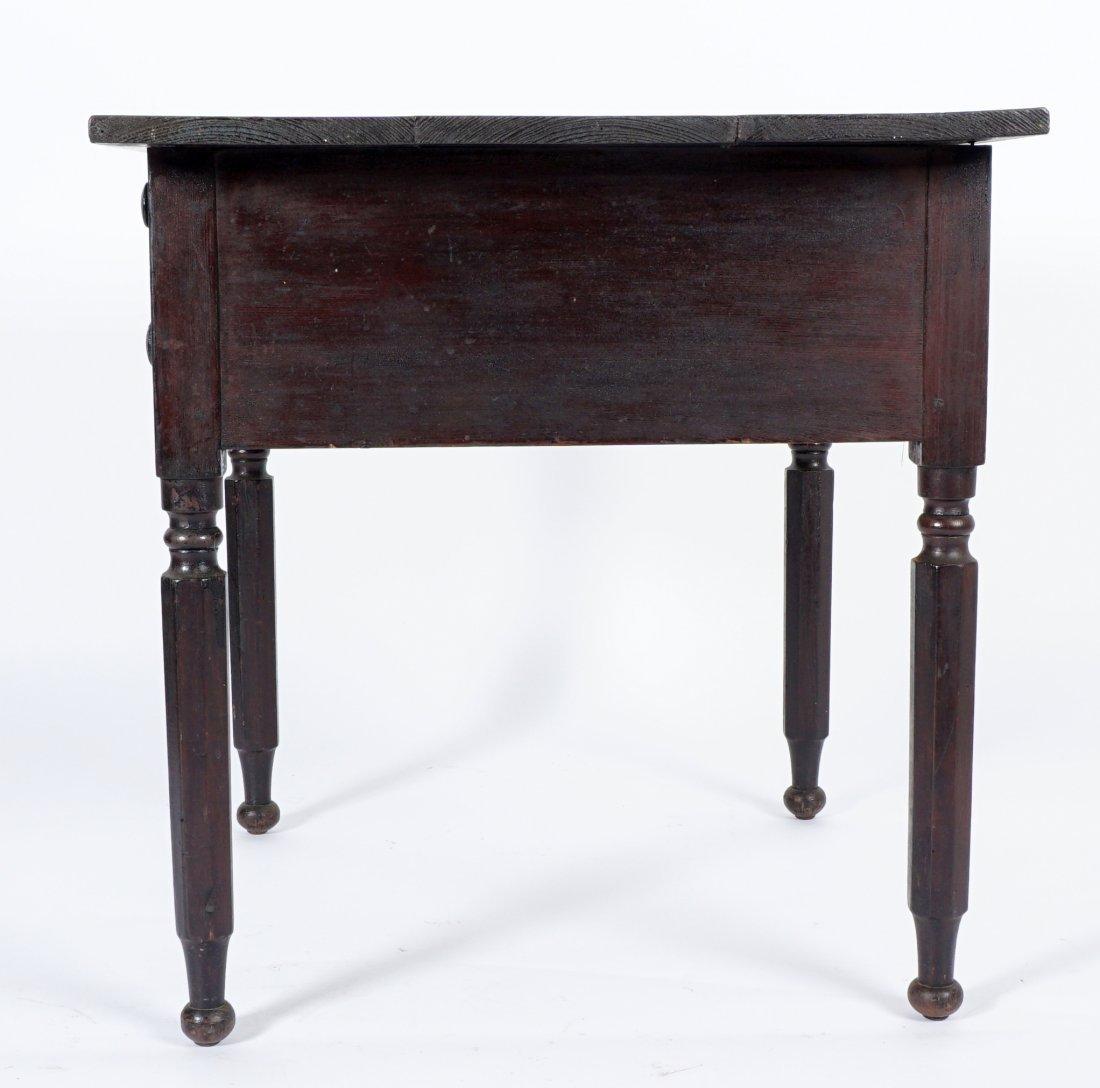 19th Century 2 Drawer Sea Captain's Desk - 4