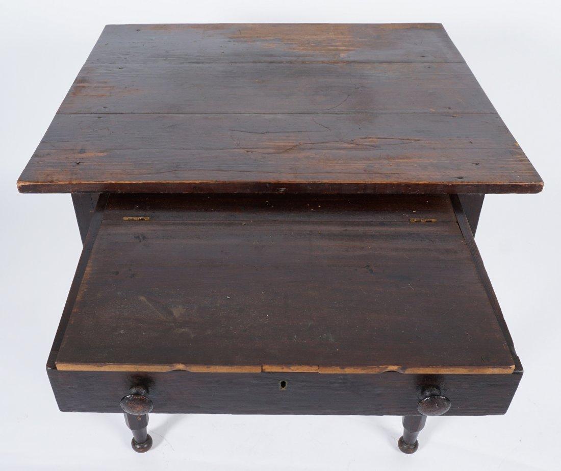 19th Century 2 Drawer Sea Captain's Desk - 5