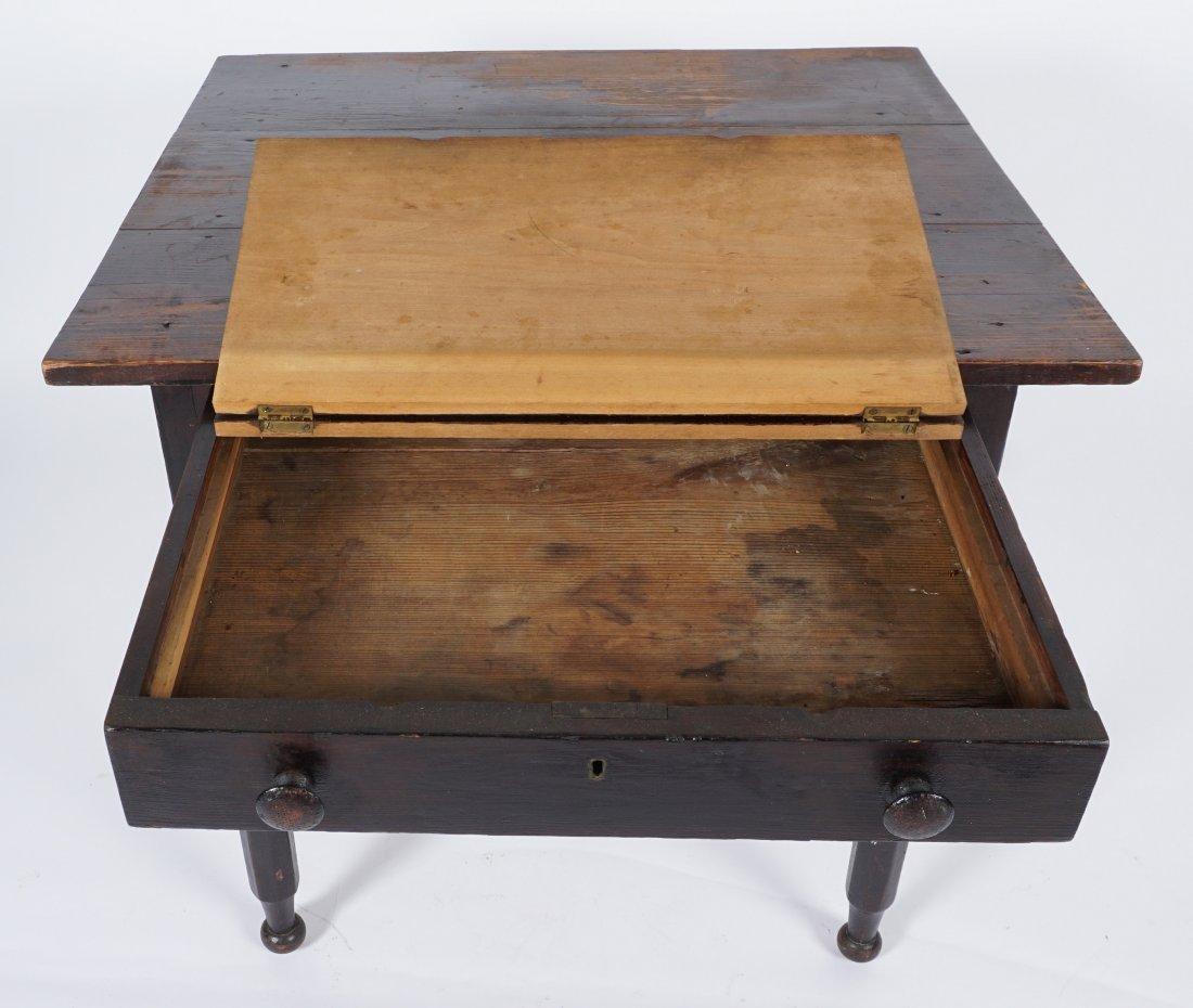 19th Century 2 Drawer Sea Captain's Desk - 6