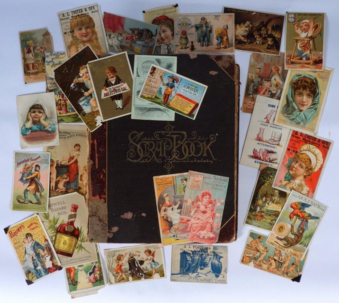 Victorian Trade Advertising Cards Scrapbook