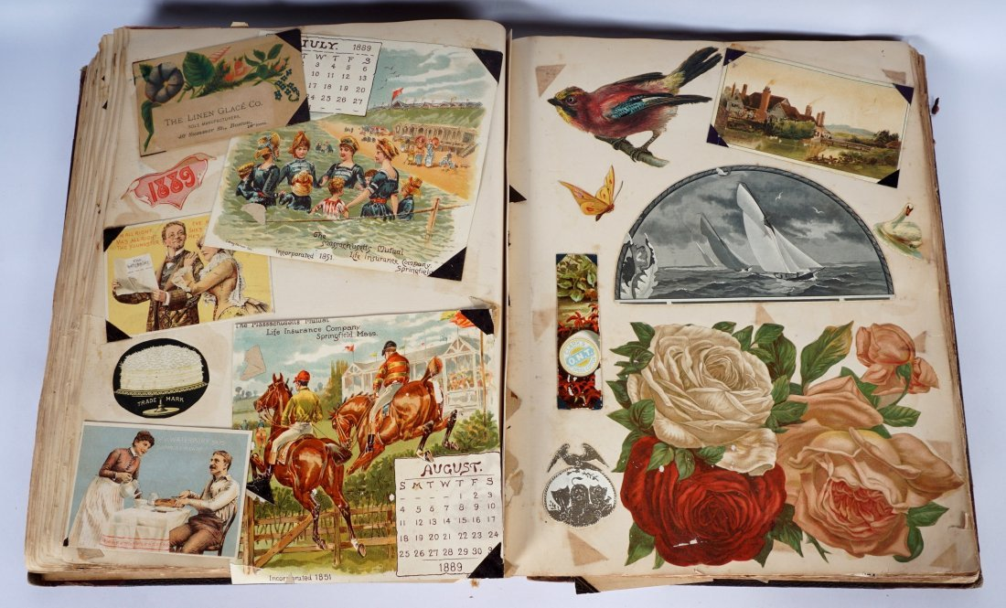 Victorian Trade Advertising Cards Scrapbook - 5