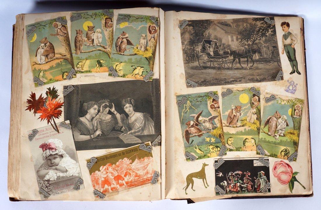 Victorian Trade Advertising Cards Scrapbook - 7
