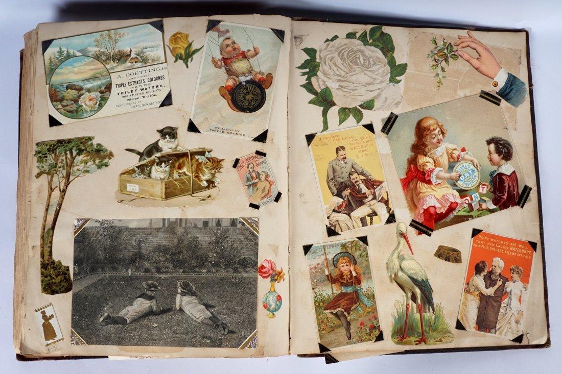 Victorian Trade Advertising Cards Scrapbook - 8