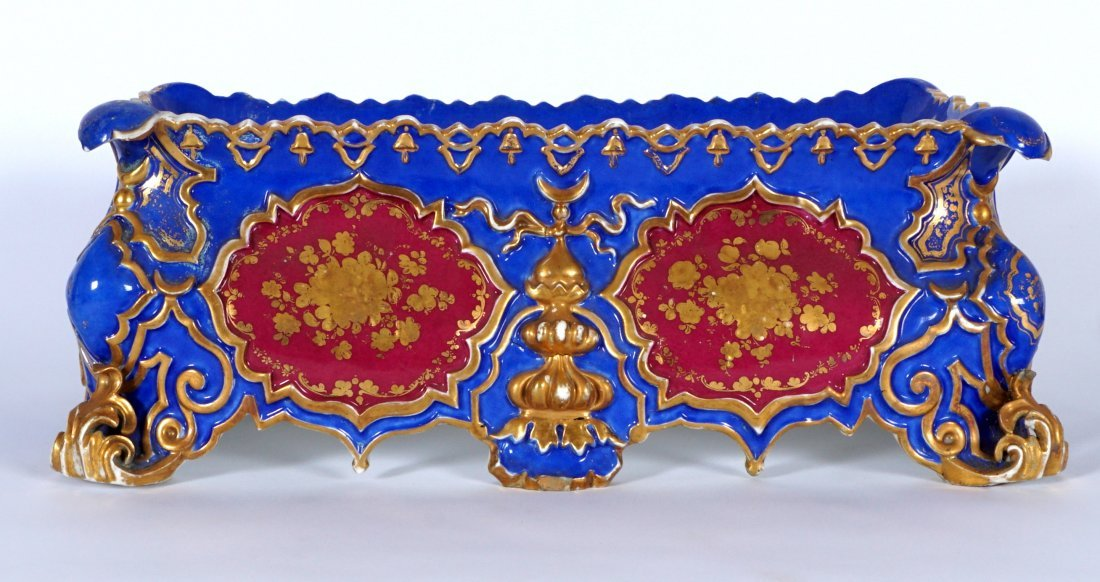 Old Paris Jacob Petit?  Porcelain Planter / Ferner - 2