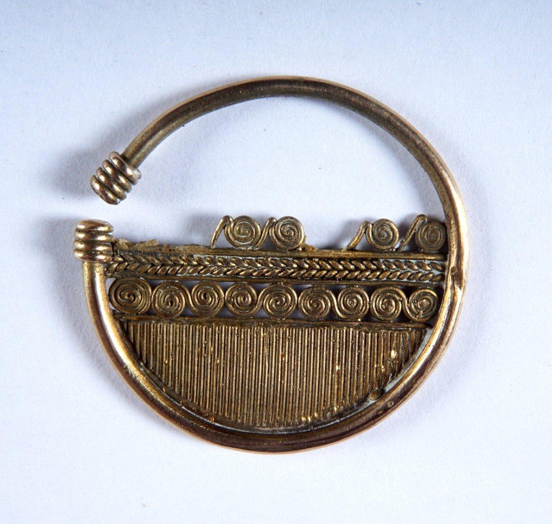 4 Piece Pre Columbian Sinu Style Gold Items - 5