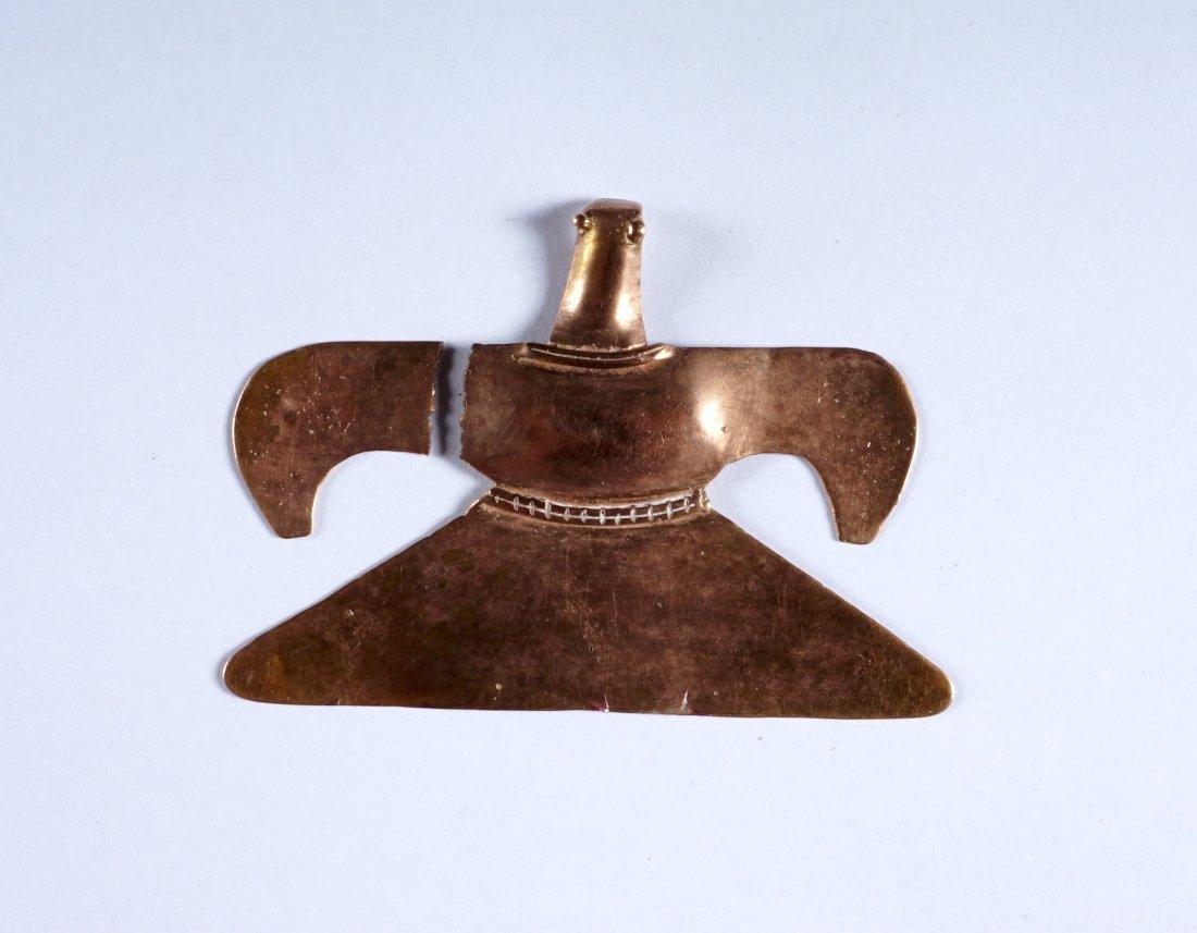 4 Piece Pre Columbian Sinu Style Gold Items - 8