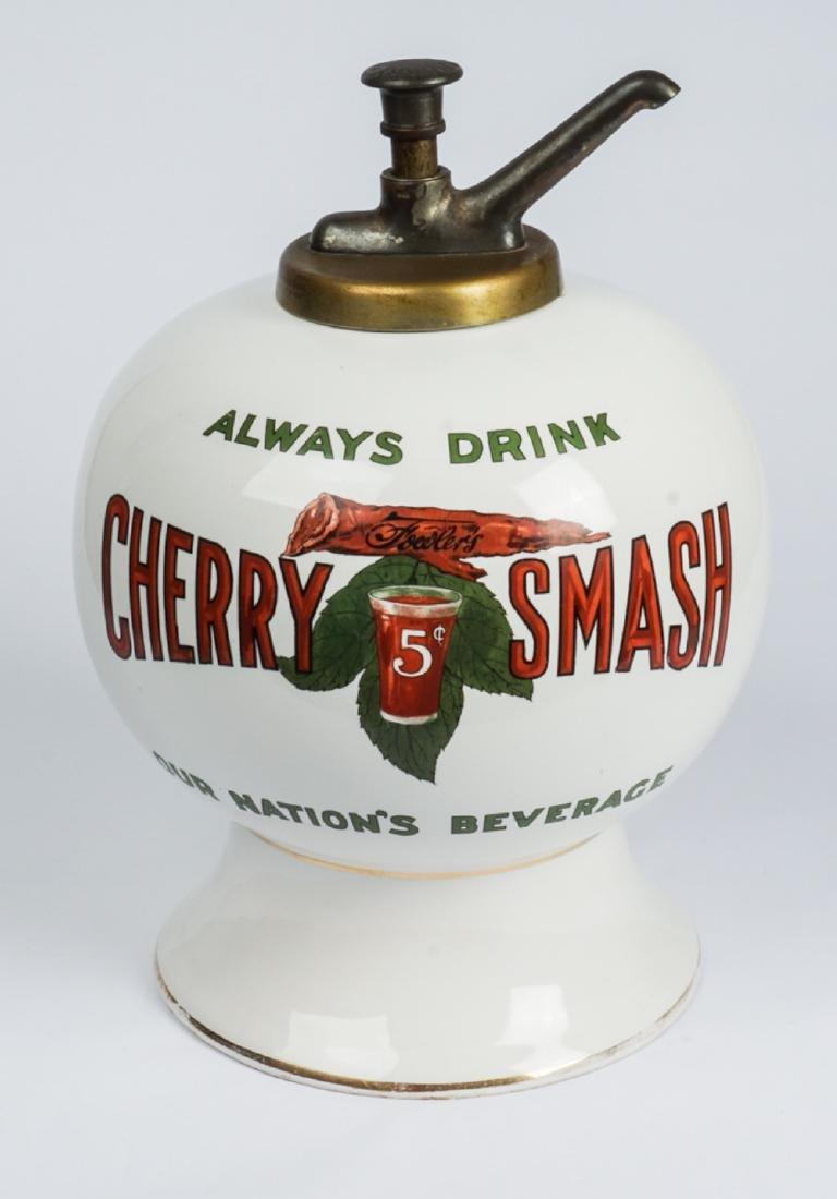 Fowler's Cherry Smash Soda Syrup Dispenser
