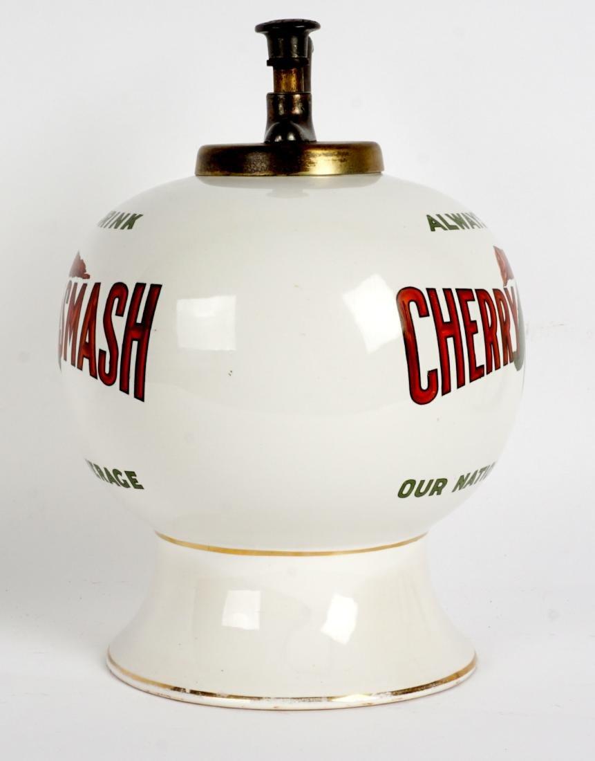 Fowler's Cherry Smash Soda Syrup Dispenser - 8