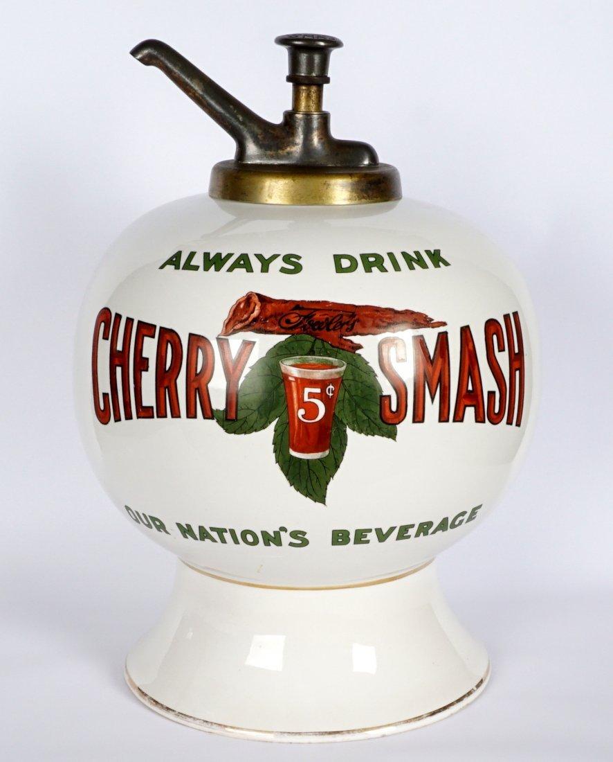 Fowler's Cherry Smash Soda Syrup Dispenser - 9
