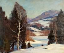 Emile Albert Gruppe Winter Landscape Painting
