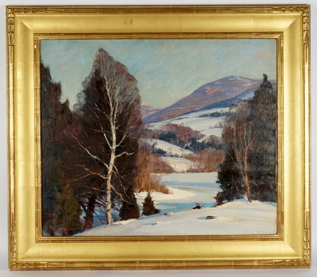 Emile Albert Gruppe Winter Landscape Painting - 2
