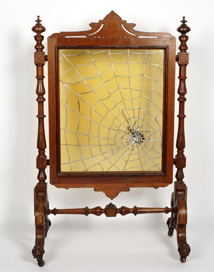 Unique Victorian Leaded Glass Fire Screen - 4