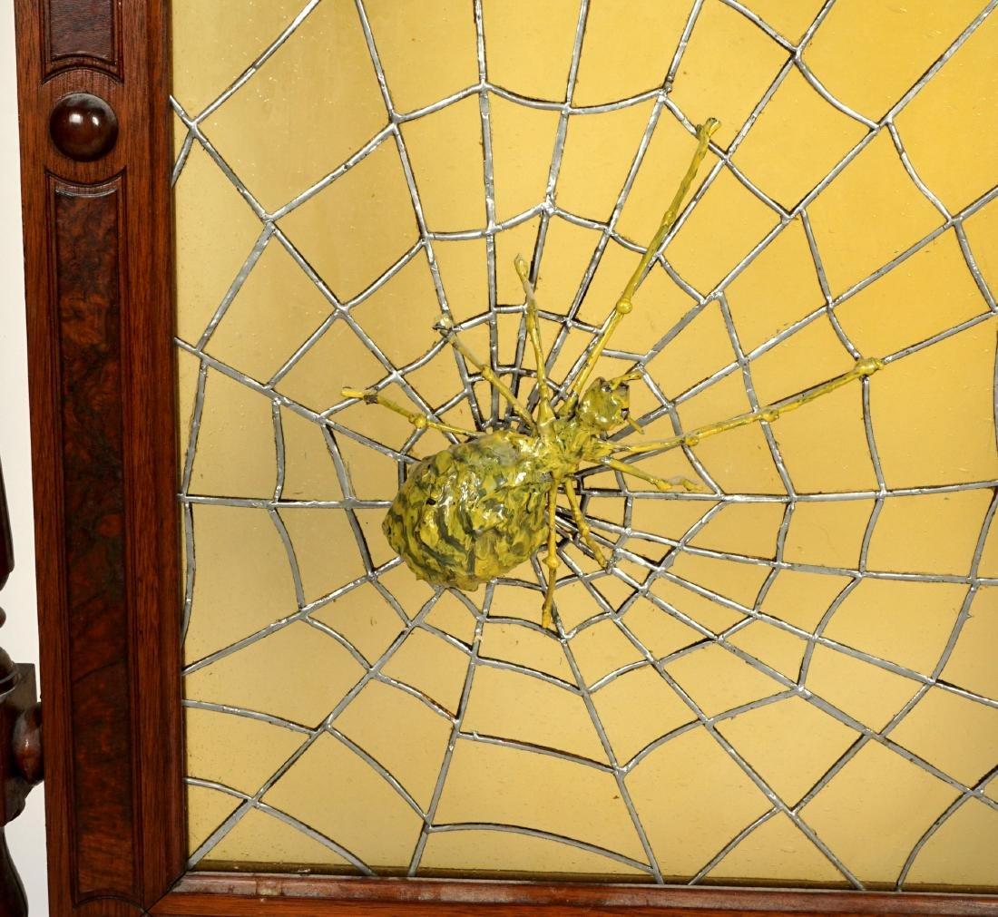 Unique Victorian Leaded Glass Fire Screen - 7