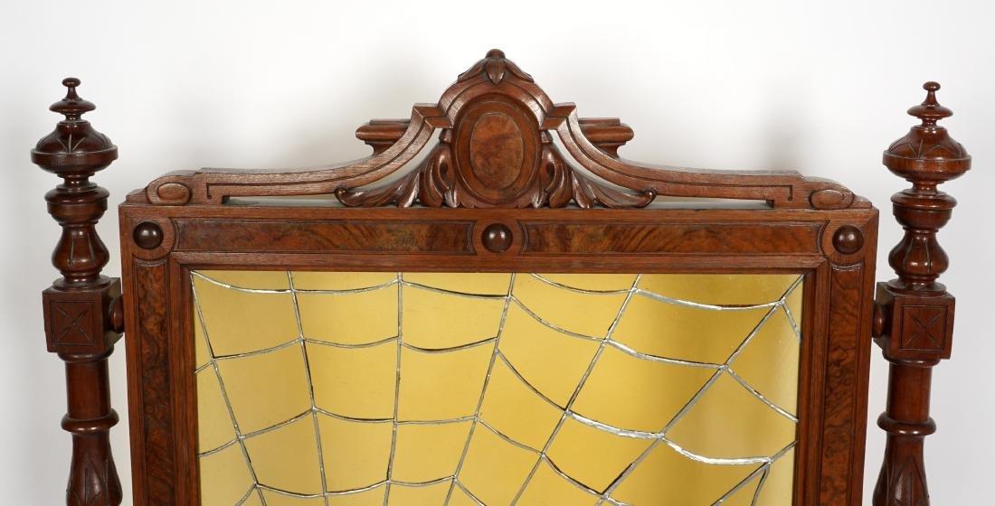Unique Victorian Leaded Glass Fire Screen - 9