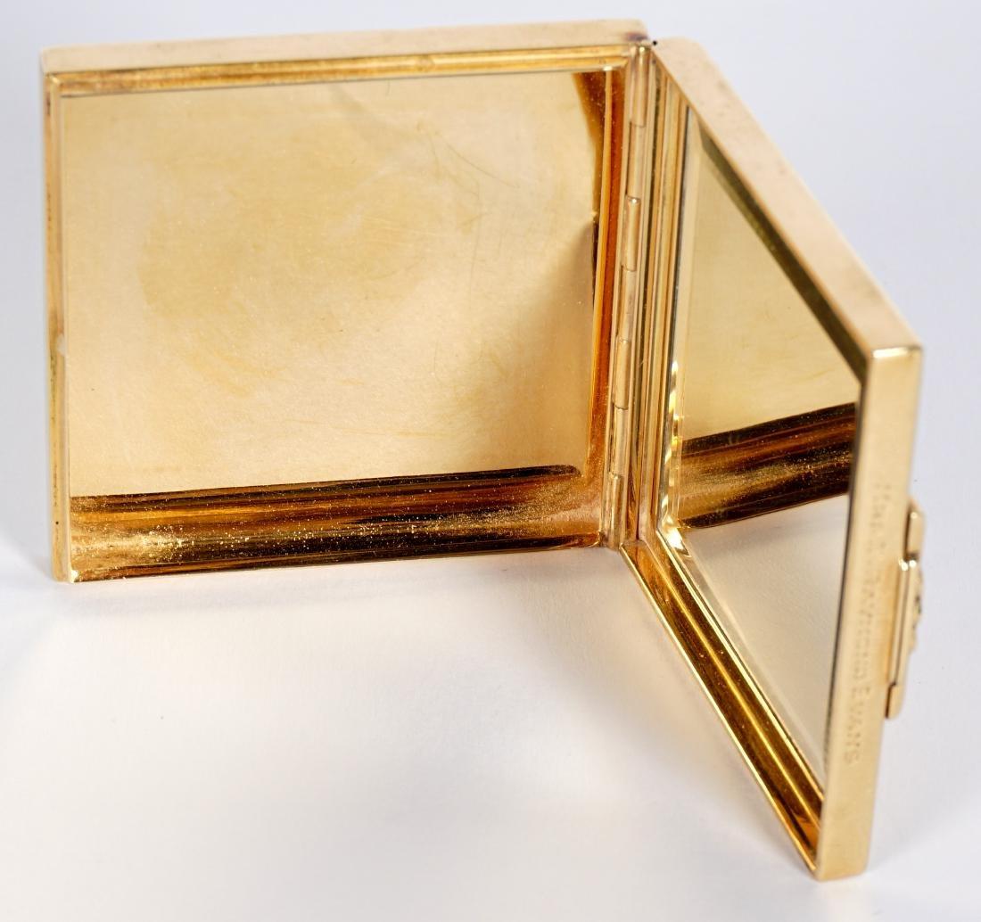 Tiffany Art Deco 14k Gold & Ruby Compact - 10