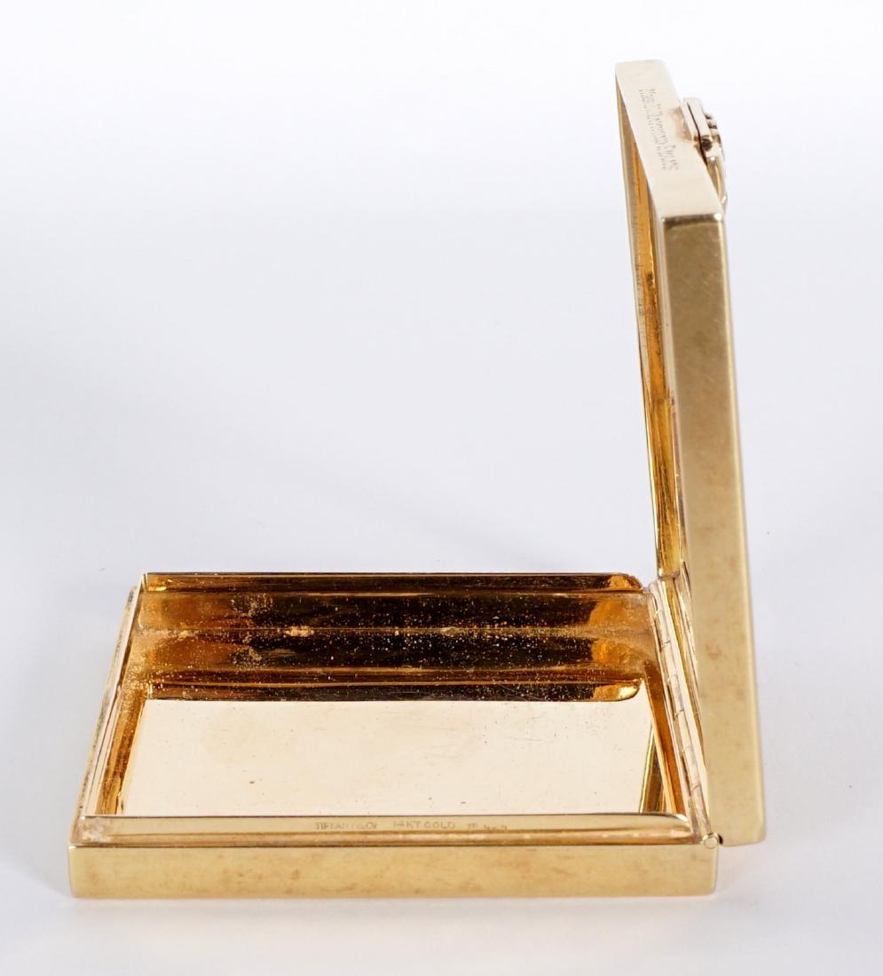 Tiffany Art Deco 14k Gold & Ruby Compact - 5