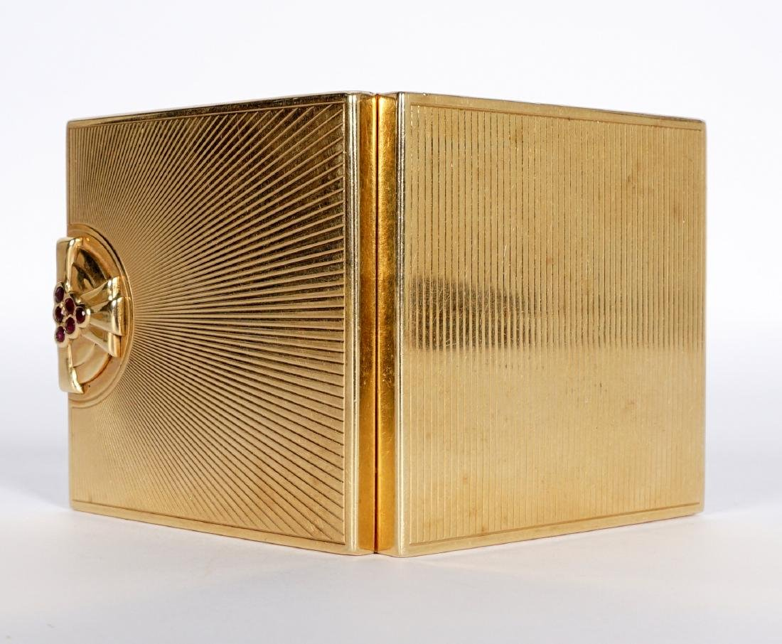 Tiffany Art Deco 14k Gold & Ruby Compact - 7
