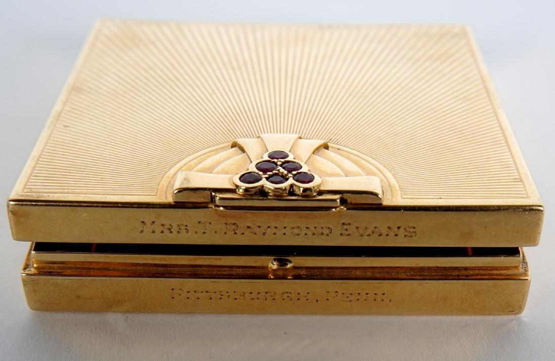 Tiffany Art Deco 14k Gold & Ruby Compact - 8