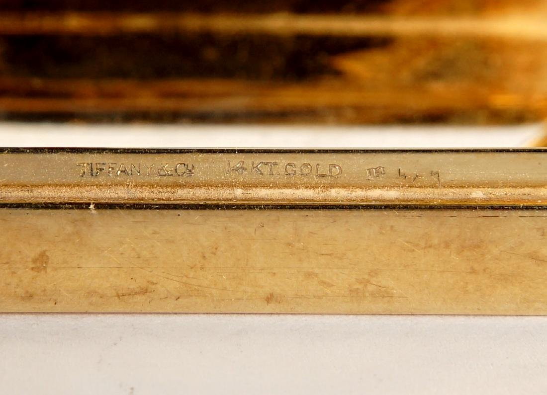Tiffany Art Deco 14k Gold & Ruby Compact - 9