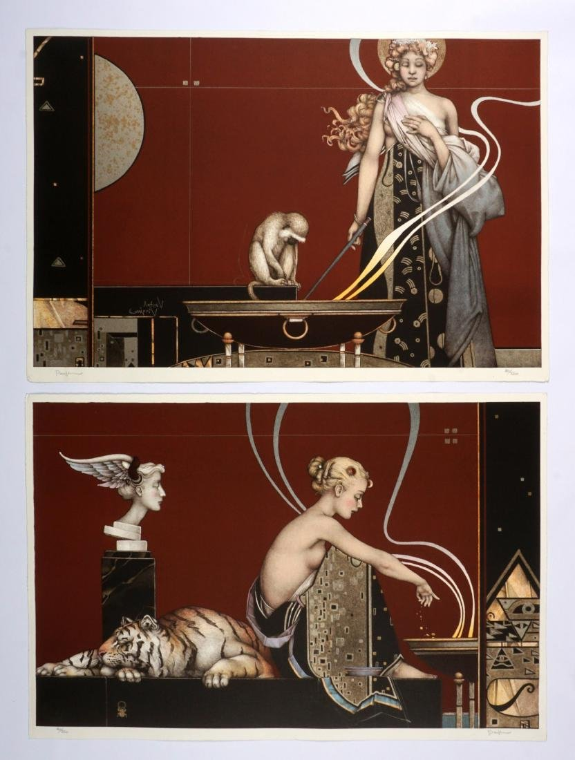 Michael Parkes Sacred Fire I and II Lithographs