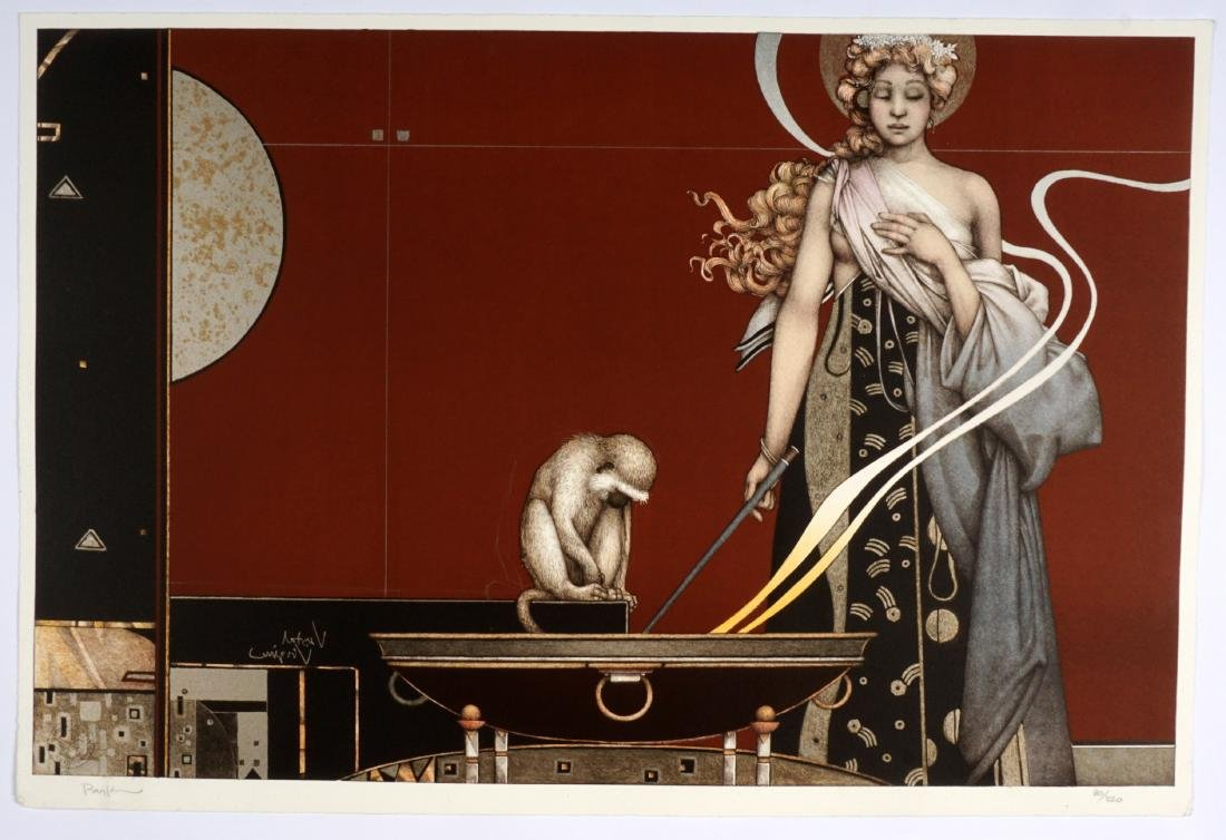 Michael Parkes Sacred Fire I and II Lithographs - 2