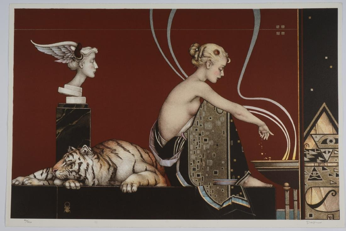 Michael Parkes Sacred Fire I and II Lithographs - 6
