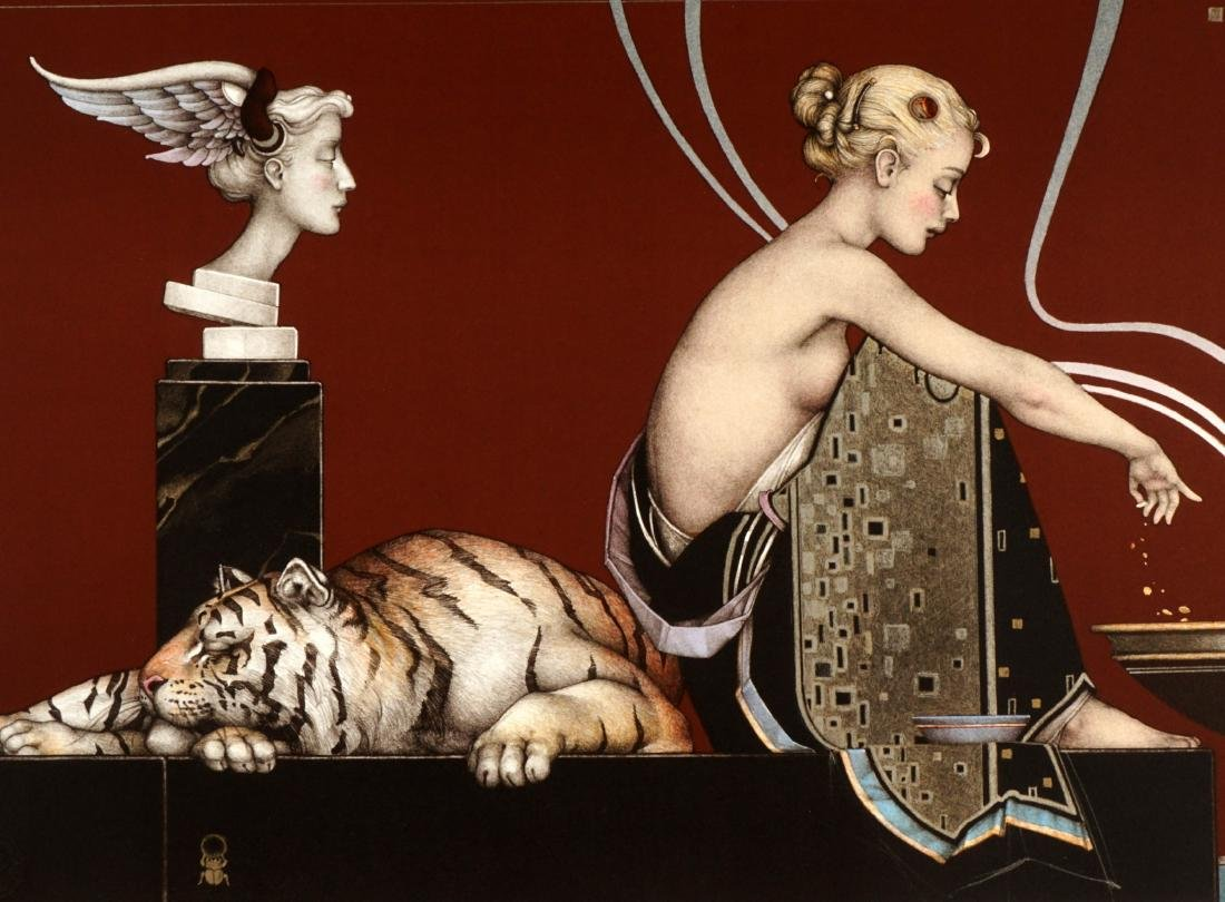 Michael Parkes Sacred Fire I and II Lithographs - 7
