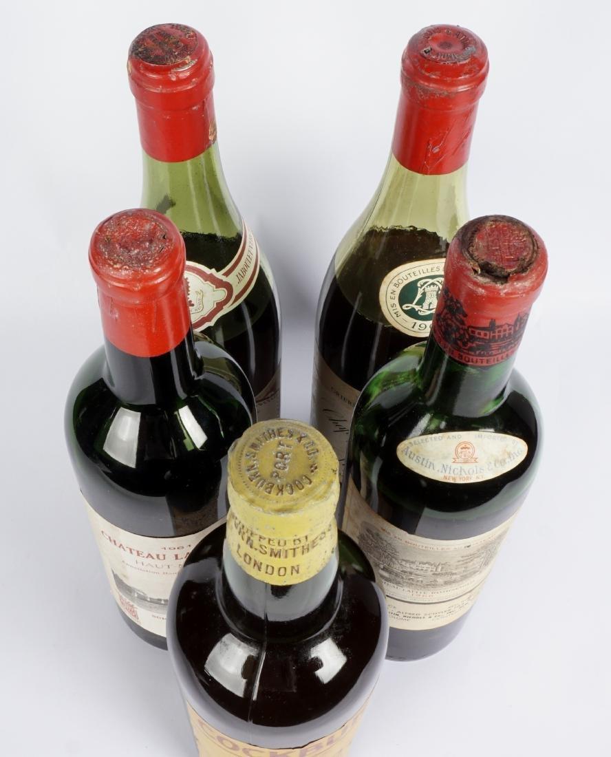 Collection of Five Vintage Fine Wine Bottles - 4