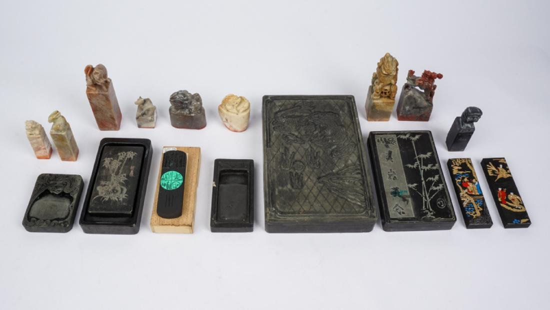 Collection of Chinese Seals & Ink Block