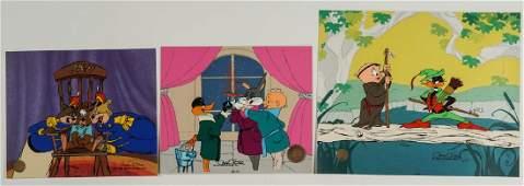 Three Chuck Jones Sericels Bugs Daffy  More