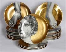 Twenty Four Fornasetti Adamo et Eva Plates