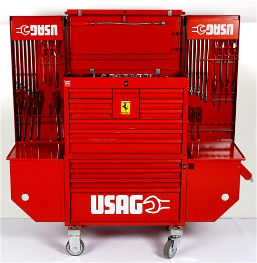 USAG for Ferrari Large Rolling Toolbox with Tools - Jun 02, 2019 ...
