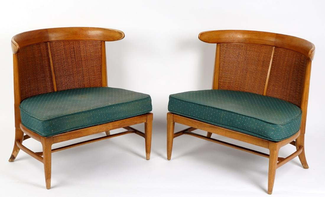 Pair Tomlinson Sophisticate Slipper Chairs
