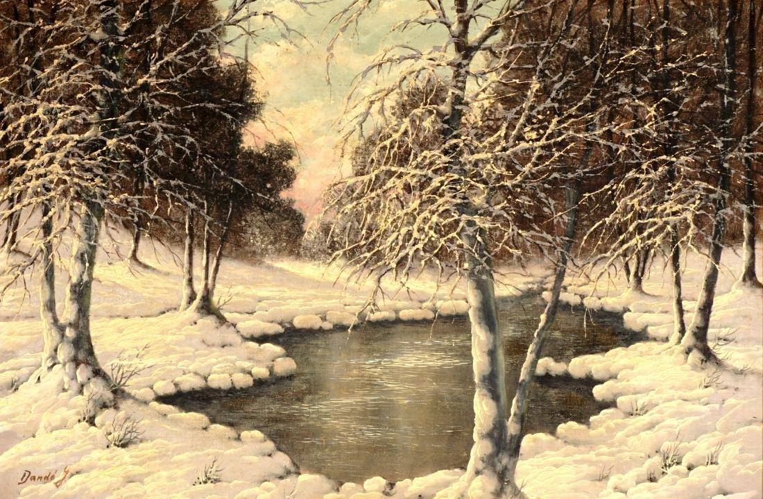 Joseph Dande Hungarian Winter Landscape