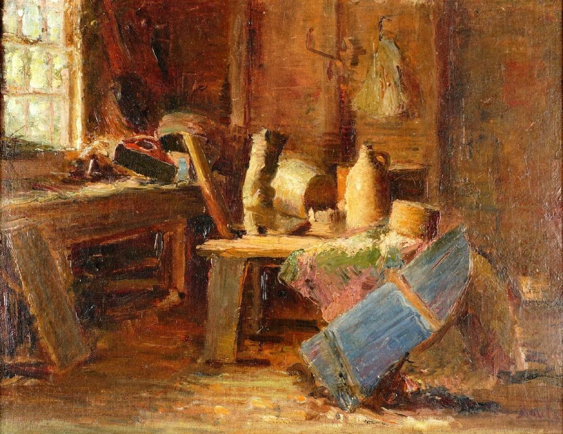 Impressionist Interior Still Life Signed Soule