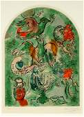Marc Chagall Tribe of Asher Solier Lithograph